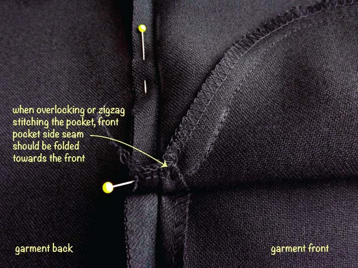How to sew an inseam pocket step 5