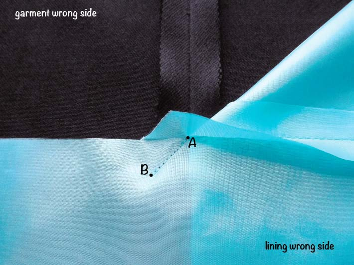 How to sew a lined slit step 5