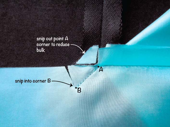 How to sew a lined slit step 6