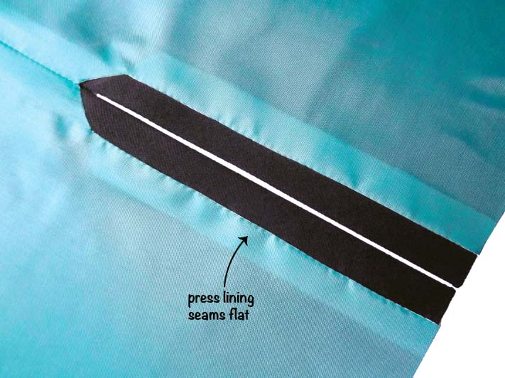 How to sew a lined slit step 8