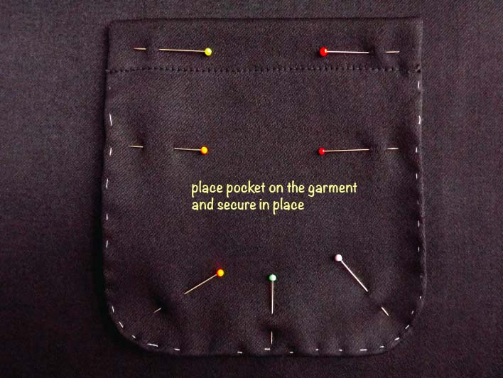 How to sew a patch pocket step 10