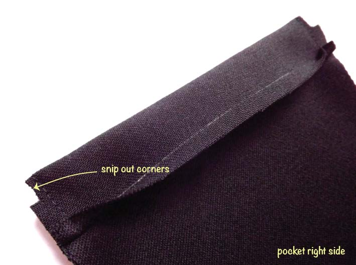How to sew a patch pocket step 6