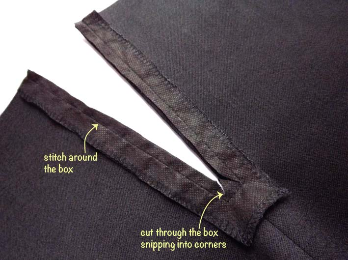 How to sew an exposed zip step 8