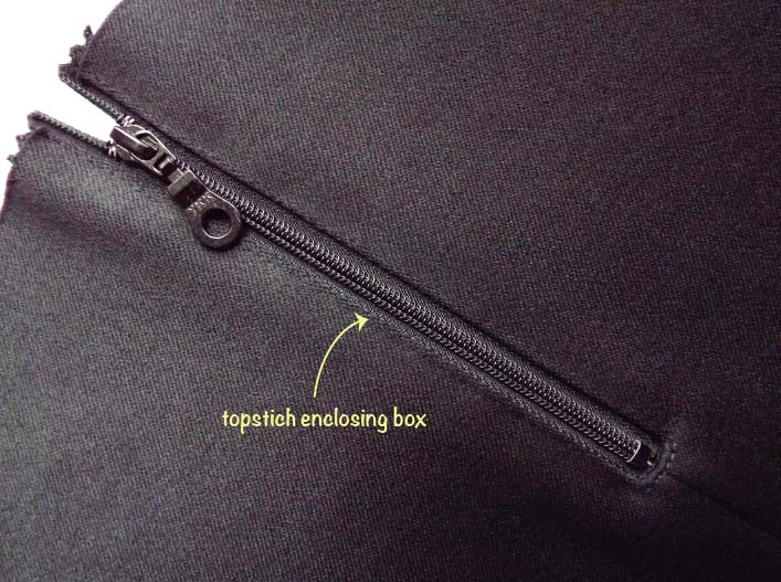 How to sew an exposed zip step 9
